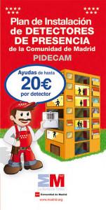 plan instalacion detectores presencia Comunidad de Madrid
